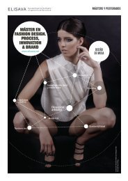 máster en fashion design. process, innovation & brand - ELISAVA