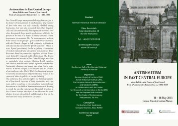 ANTISEMITISM IN EAST CENTRAL EUROPE