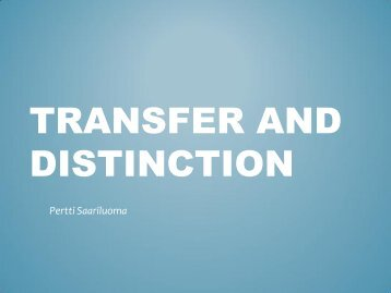 Transfer and distinction