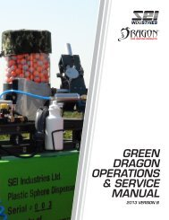 Green Dragon Operations and Service Manual - SEI Industries Ltd.