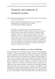 Symmetry and complexity in dynamical systems - Academia Europaea