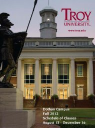 TROY SPRING 09.qxd - Troy University