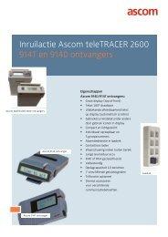 914T en 914D ontvangers Inruilactie Ascom teleTRACER 2600
