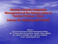 Presentation - World Lake Database