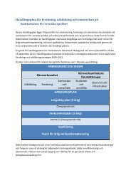 Handlingsplan för forskning, utbildning och samverkan på ...