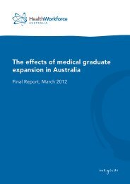The effects of medical graduate expansion on doctors - Health ...