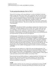 Verksamhetsberättelse SMDI 2012 - Institutionen för svenska språket
