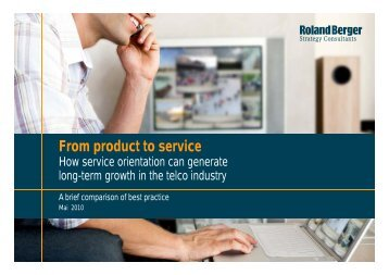 From product to service - Roland Berger