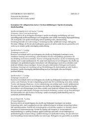 Kursplaneutkast för obligatoriska kurser i forskarutbildningen i ...