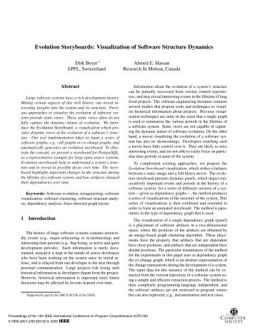 Evolution Storyboards: Visualization of Software ... - IEEE Xplore