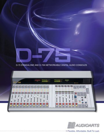 D-75 & D-75N Brochure (Inkjet) - Audioarts