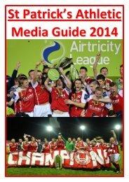 St Patrick's Athletic Media Guide 2014