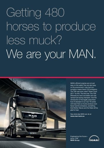 MAN's efficient engines are not just easy on the ... - MAN Brand Portal