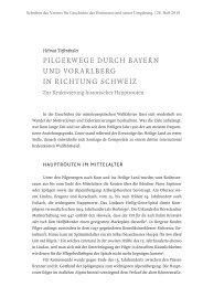 Pilgerwege durch Bayern und VorarlBerg in richtung Schweiz