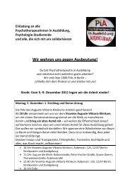Einladung an alle PsychotherapeutInnen in Ausbildung ...