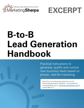 B-to-B Lead Generation Handbook - IAB