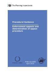 Procedural Guidance Enforcement appeals and ... - Planning Portal