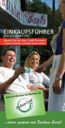 Sachsen Card Einkaufsführer 2010