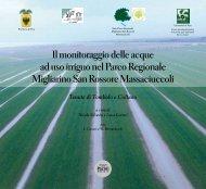 Il monitoraggio delle acque ad uso irriguo nel Parco ... - Enrico Avanzi