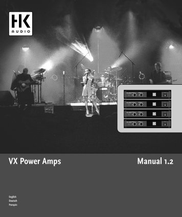Manual 1.2 VX Power Amps - SDS Music Factory AG
