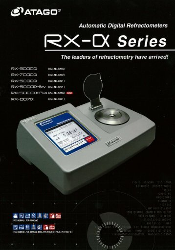 Page 1 @PATAGCJ® Automatic Digital Refractometers @X-CX ...