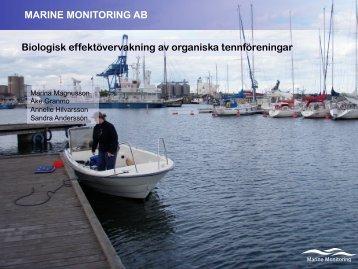 Effekter av organiska tennföroreningar