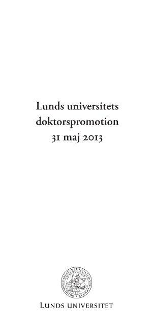 Oration - Lunds universitet