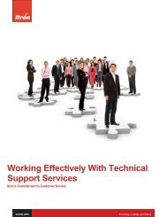 Working Effectively With Technical Support Services - Itron