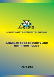 ZANZIBAR FOOD SECURITY AND NUTRITION POLICY - Kilimo