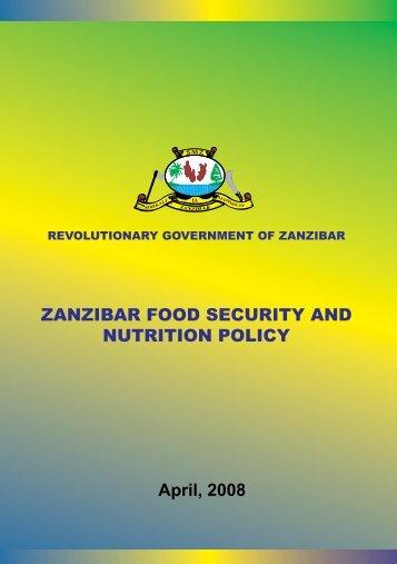 ZANZIBAR FOOD SECURITY AND NUTRITION POLICY - Kilimo