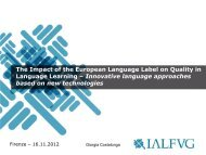 The Impact of the European Language Label on Quality in ... - NelliP