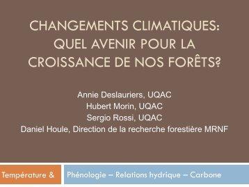 quel avenir pour la croissance de nos forêts? - Ouranos