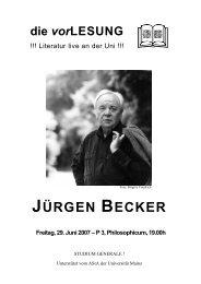 Zum Autor Jürgen Becker