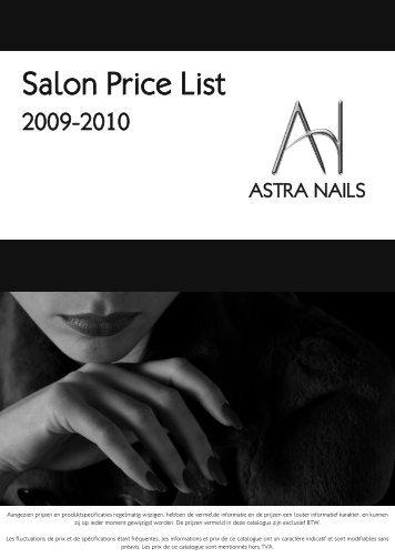Salon Price List - Astra Nails
