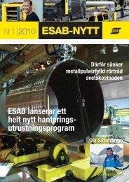 ESAB-NYTT 1-2010