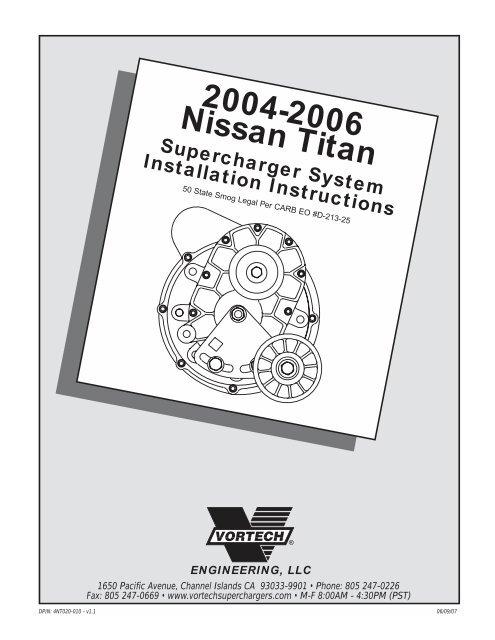 2006 Titan - Vortech Superchargers