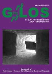 GehLos - Ausgabe März 2013 - Mai 2013 - Lurob.de