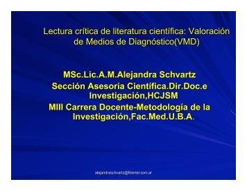 Lectura crítica de literatura científica: Valoración de Medios ... - FMV