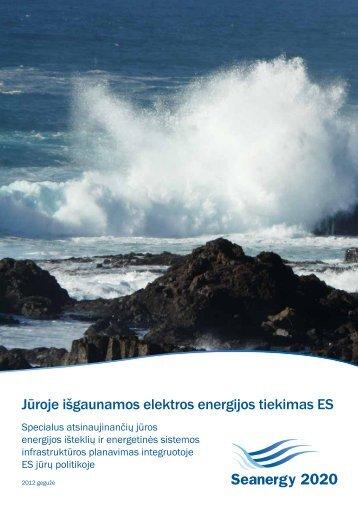 Jūroje išgaunamos elektros energijos tiekimas ES - Seanergy 2020