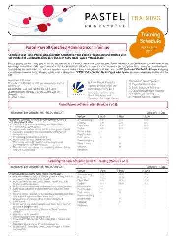 hris software training schedule - ccim