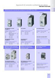 Interruttori automatici 3RV1 - Siemens