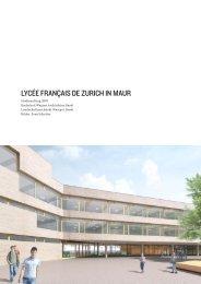 lycée français de zurich in maur - Bachelard Wagner Architekten