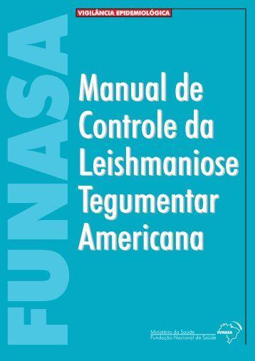 Manual de controle da leishmaniose tegumentar americana