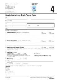 Formular 4 - Blendenbeschriftung, Schrift, Tapete, Farbe - Interlift