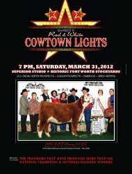 7 pm,saturday,march 31,2012 - National Cattle Services, Inc.