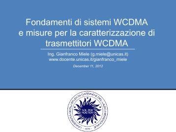 Fondamenti di sistemi W-CDMA e misure per la caratterizzazione di ...