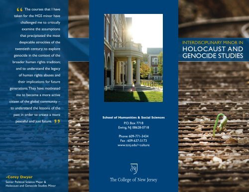 Holocaust and Genocide Studies minor - TCNJ Center for Global ...
