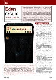 EDEN CXC 110 - Music Info