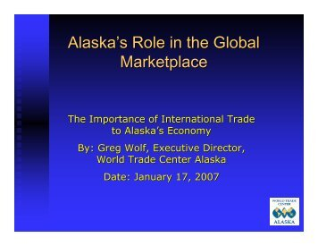 How Exports Benefit Alaska's Economy - World Trade Center Alaska