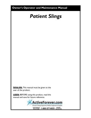Invacare Patient Lift Sling User Manual (.pdf) - ActiveForever